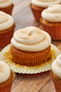 """<p>This easy cupcake is full of pumpkin spice and topped with a simple cream cheese frosting.</p><p>Get the recipe from <a href=""""https://www.delish.com/cooking/recipe-ideas/a28438880/easy-pumpkin-spice-cupcakes-recipe/"""" rel=""""nofollow noopener"""" target=""""_blank"""" data-ylk=""""slk:Delish"""" class=""""link rapid-noclick-resp"""">Delish</a>.</p>"""