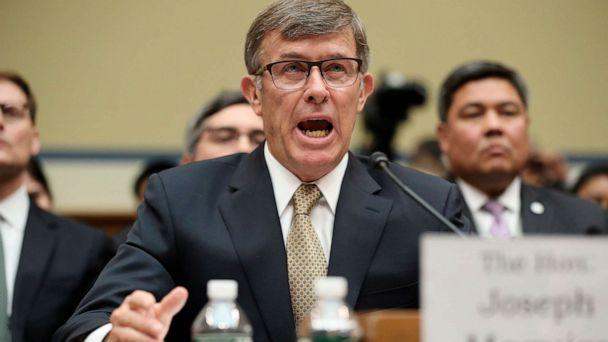 PHOTO: Acting Director of National Intelligence Joseph Maguire testifies before the House Intelligence Committee on Capitol Hill in Washington, D.C., Sept. 26, 2019. (Andrew Harnik/AP)