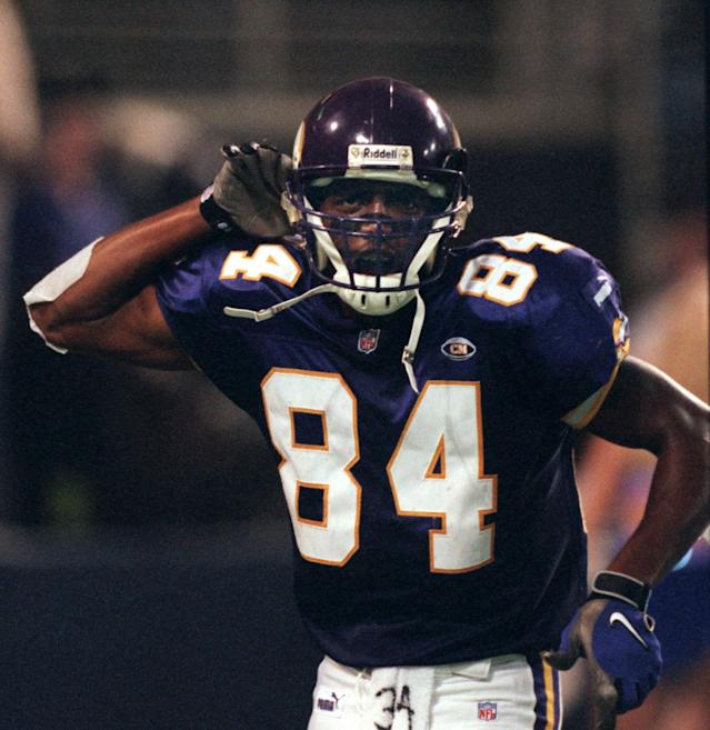 What do you think of Randy Moss in this jersey? (Photo By JERRY HOLT/Star Tribune via Getty Images)