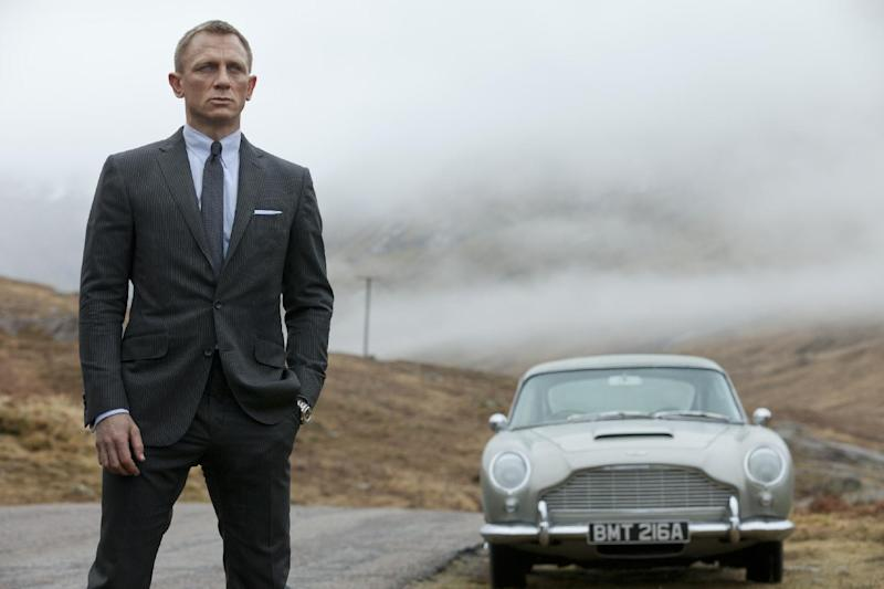 """FILE - This publicity file photo released by Columbia Pictures shows Daniel Craig as James Bond in the action adventure film, """"Skyfall."""" Agent 007 is real to millions of moviegoers, and once again they will flock to see Bond battle for queen and country when his 23rd official screen adventure, """"Skyfall,"""" opens fall 2012. (AP Photo/Sony Pictures, Francois Duhamel, File)"""