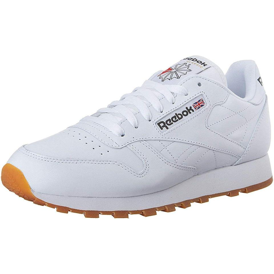 """<p><strong>Reebok</strong></p><p>amazon.com</p><p><strong>$55.96</strong></p><p><a href=""""https://www.amazon.com/dp/B000B2PG92?tag=syn-yahoo-20&ascsubtag=%5Bartid%7C10054.g.36803444%5Bsrc%7Cyahoo-us"""" rel=""""nofollow noopener"""" target=""""_blank"""" data-ylk=""""slk:Shop Now"""" class=""""link rapid-noclick-resp"""">Shop Now</a></p><p>Called a """"classic"""" for a reason.</p>"""