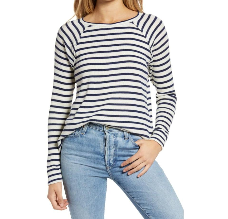 <p>In our opinion, a striped shirt is one of those things you can wear year-round. But thanks to its special thermal design, this <span>Treasure &amp; Bond Long Sleeve Top</span> ($39) is a must have for fall.</p>