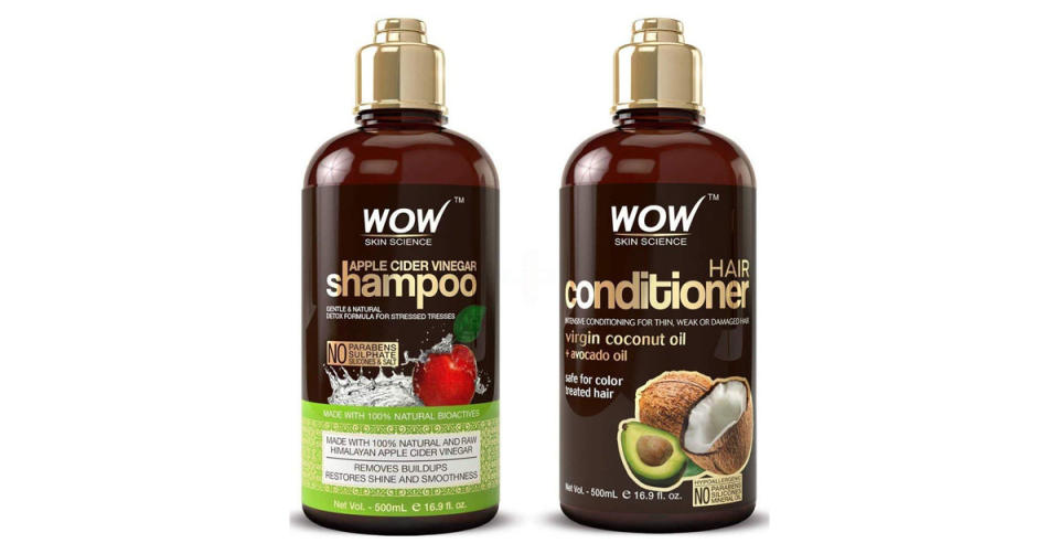 Wow Apple Cider Vinegar Shampoo and Hair Conditioner Set (Photo: Amazon)