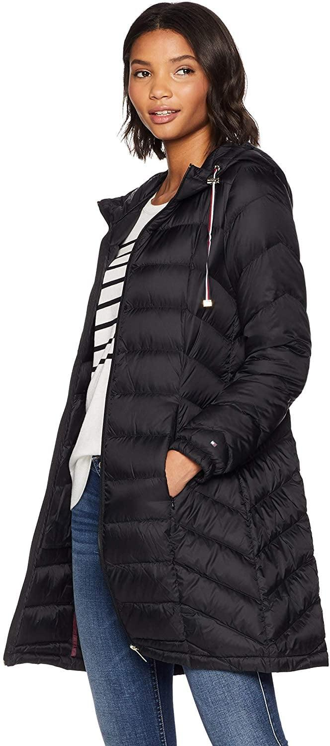<p>Stay warm on chilly days in this <span>Tommy Hilfiger Mid Length Chevron Quilted Packable Down Jacket</span> ($85, originally $100).</p>
