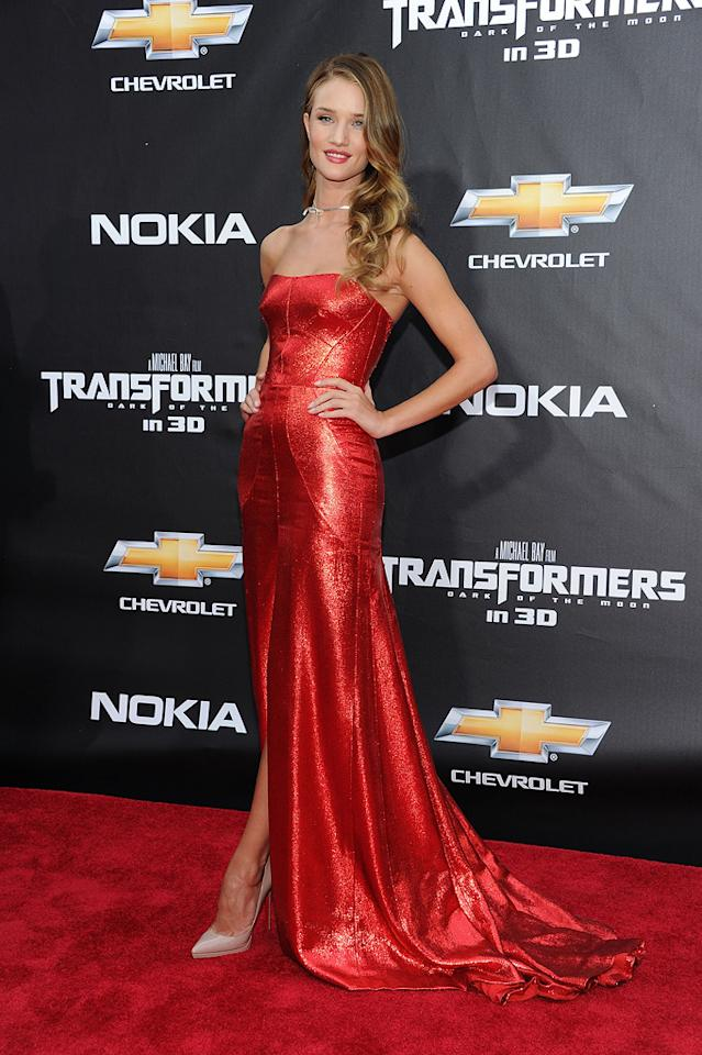 "<a href=""http://movies.yahoo.com/movie/contributor/1810161759"">Rosie Huntington-Whiteley</a> at the New York City premiere of <a href=""http://movies.yahoo.com/movie/1810159115/info"">Transformers: Dark of the Moon</a> on June 28, 2011."