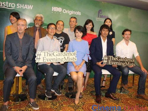 """The cast and crew of """"The Garden of Evening Mists"""" at the movie's launch last year."""