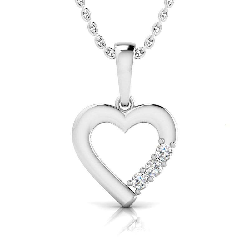 Pristine Fire 1/20 Carat Natural Diamond Sterling Silver Heart Necklace (Photo: Amazon)