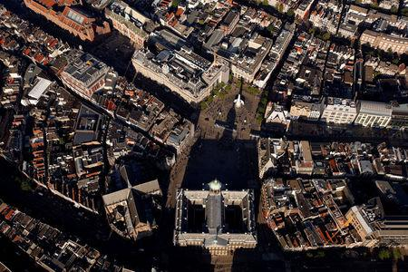 FILE PHOTO: Dam Square is pictured in this aerial shot of Amsterdam, Netherlands, June 14, 2017. REUTERS/Cris Toala Olivares/File Photo