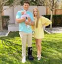 <p>Baby Sterling celebrated her first Easter in April 2021. In honor of the holiday, the family wore their brightest pastels.</p>