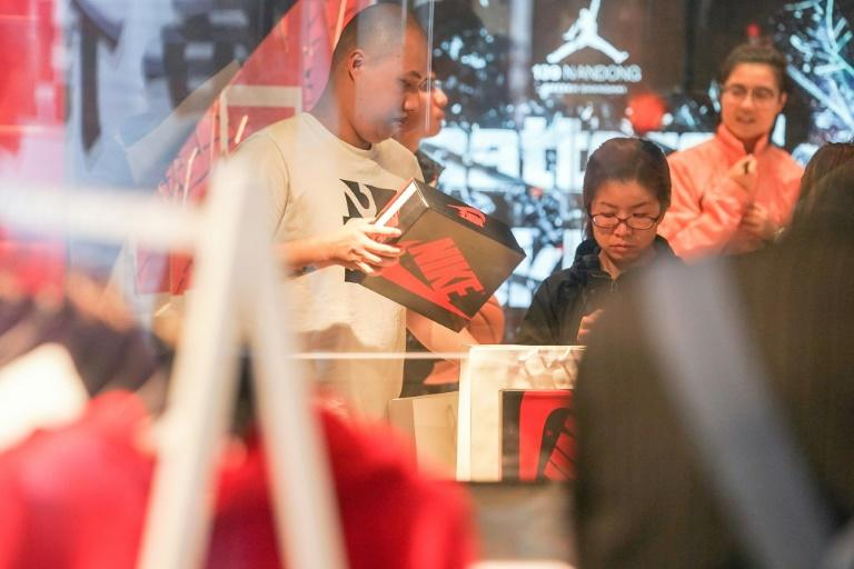 According to iiMedia research, China's secondary market for sneakers has passed $1 billion this year and is one of the fastest-growing components of a $6 billion global market (AFP Photo/STR)