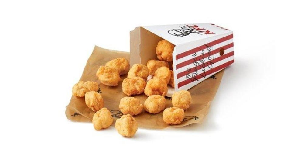 KFC's popcorn chicken usually comes in much smaller portions