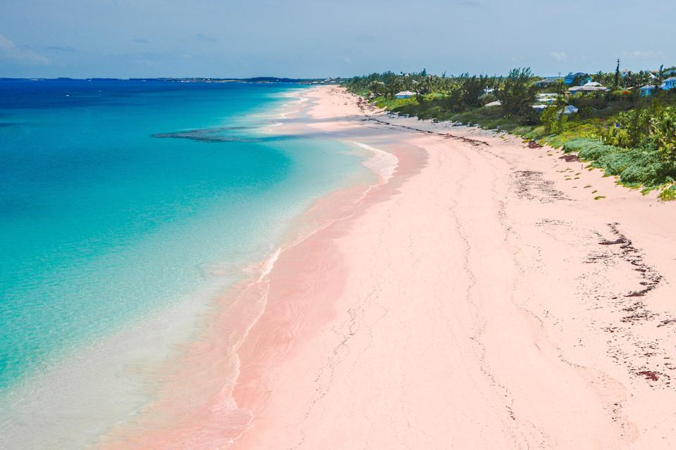 "Three words: <a href=""https://www.cntraveler.com/galleries/2016-04-19/the-most-beautiful-pink-sand-beaches-in-the-world?mbid=synd_yahoo_rss"" rel=""nofollow noopener"" target=""_blank"" data-ylk=""slk:pink sand beach."" class=""link rapid-noclick-resp"">pink sand beach.</a> At more than three miles long, Harbour Island's iconic colorful beach is colored thanks to the pink and red shells of tiny coral-dwelling organisms, that have been crushed by waves and washed ashore. But, as with most islands on this list, there's more to do at the beach than just soak up the sun. Certain areas are open to horseback riders, while the water is filled with outlying coral reefs snorkelers will love."