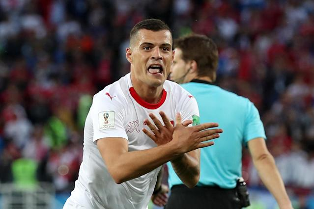Switzerland duo Granit Xhaka and Xherdan Shaqiri face Fifa probe over goal celebrations vs Serbia