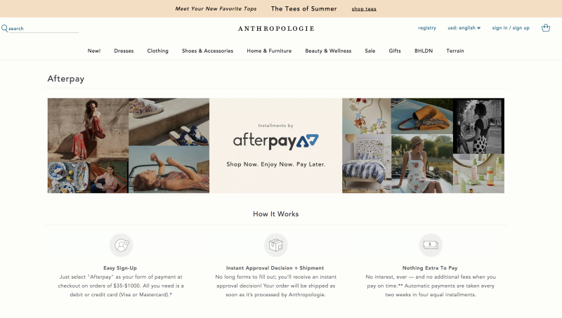 Afterpay and Klarna