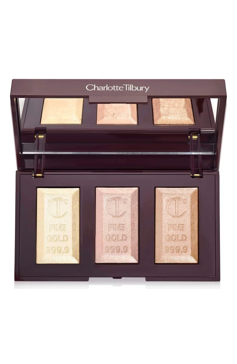 """<h3><a href=""""https://www.charlottetilbury.com/us/product/bar-of-gold-highlighter-palette"""" rel=""""nofollow noopener"""" target=""""_blank"""" data-ylk=""""slk:Charlotte Tilbury Bar Of Gold Highlighter Palette"""" class=""""link rapid-noclick-resp"""">Charlotte Tilbury Bar Of Gold Highlighter Palette</a></h3><br>Charlotte Tilbury's beloved Gold Bar highlighters were one of the OG powder formulas to hit it big. With everything on the British makeup artist's site slashed to a 30% discount, don't miss out on making the luxe trio yours.<br><br><strong>Charlotte Tilbury</strong> Bar of Gold Highlighter Palette, $, available at <a href=""""https://www.charlottetilbury.com/us/product/bar-of-gold-highlighter-palette#locklink"""" rel=""""nofollow noopener"""" target=""""_blank"""" data-ylk=""""slk:Charlotte Tilbury"""" class=""""link rapid-noclick-resp"""">Charlotte Tilbury</a>"""