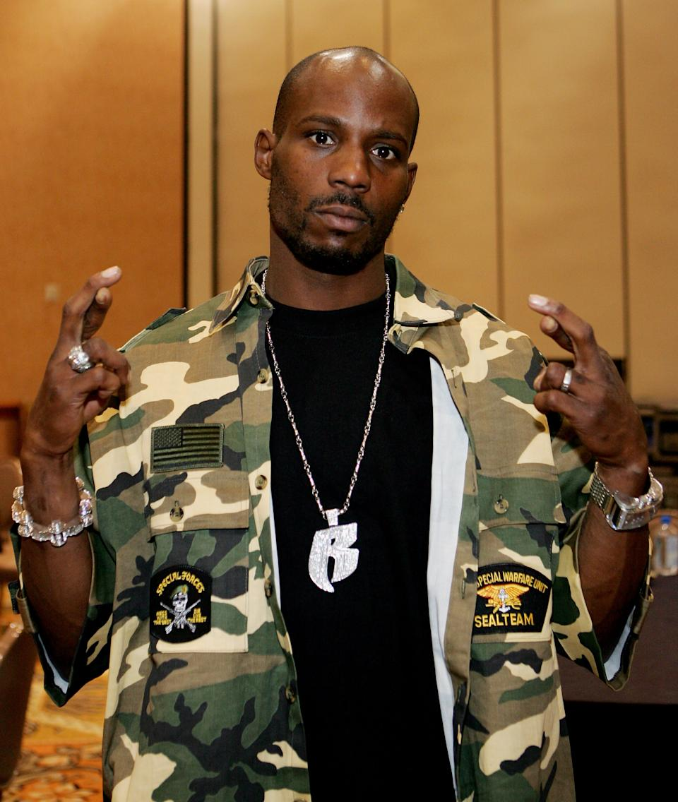 DMX arrives at the International Pool Tour World 8-Ball Championship at the Mandalay Bay Resort & Casino August 20, 2005 in Las Vegas, Nevada. The contest was the first-ever championship match between the best male and female pool players in the world and featured Mike Sigel vs. Loree Jon Jones. Sigel won the match to claim the top prize of $150,000 and Jones earned $75,000 as the runner-up - the biggest single payday in the history of the sport.