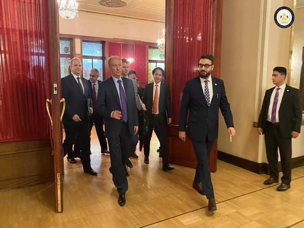 Afghanistan NSA Hamdullah Mohib with Russia's Security Council Secretary Nikolai Patrushev in Moscow (Photo Credit - Office of National Security Council, Afghanistan)