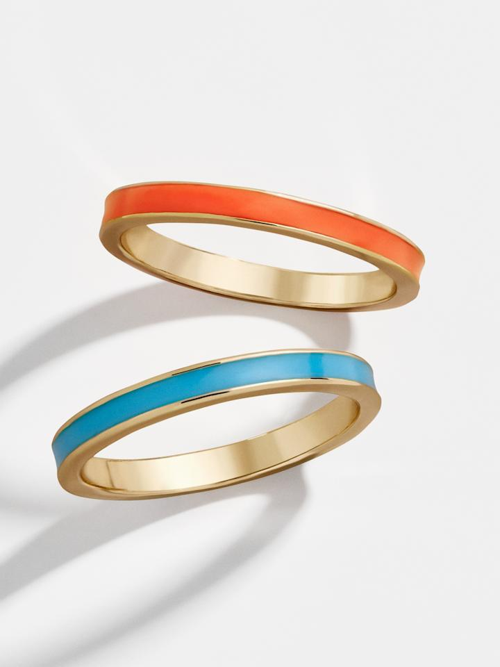 """<p><strong>bumble bar</strong></p><p>baublebar.com</p><p><strong>$10.00</strong></p><p><a href=""""https://go.redirectingat.com?id=74968X1596630&url=https%3A%2F%2Fwww.baublebar.com%2Fproduct%2F45328-delaine-ring-set%3Fsku%3D45331&sref=http%3A%2F%2Fwww.townandcountrymag.com%2Fstyle%2Fjewelry-and-watches%2Fg28567334%2Fbaublebar-10-dollar-sale-summer-2019%2F"""" target=""""_blank"""">Shop Now</a></p><p><em>Original Price: $38</em></p>"""