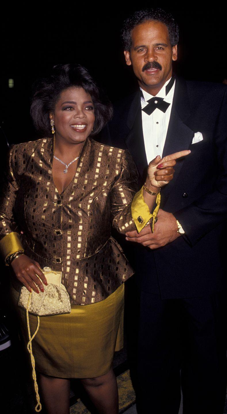 <p>Oprah's best accessory (other than her longtime boyfriend Steadman Graham) was perhaps this yellow bag with a fancy rope strap that she carried to the Emmy awards.</p>