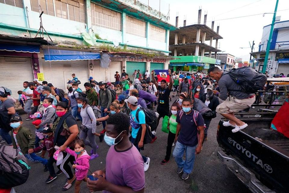Mexico Migrants (Copyright 2021 The Associated Press. All rights reserved)