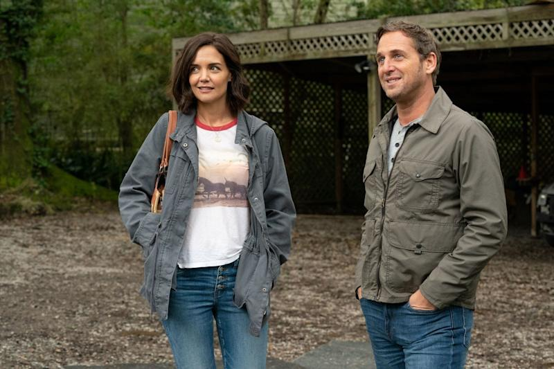 "Katie Holmes plays a financially strapped New Orleans mom who gets unexpected help from a mysterious college professor (Josh Lucas) in the drama ""The Secret: Dare to Dream."""