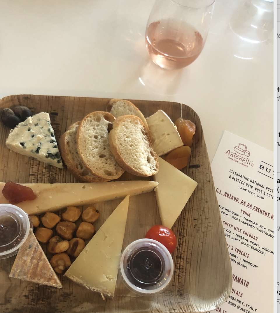 A virtual wine and cheese tasting helped Erin Donnelly spice up her stay-at-home experience. (Photo: Erin Donnelly)