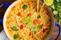 """<p>This chicken noode soup recipe is all kinds of delicious...</p><p>Get the <a href=""""https://www.delish.com/uk/cooking/recipes/a32569967/asian-chicken-noodle-recipe/"""" rel=""""nofollow noopener"""" target=""""_blank"""" data-ylk=""""slk:Asian Chicken Noodle Soup"""" class=""""link rapid-noclick-resp"""">Asian Chicken Noodle Soup</a> recipe.</p>"""