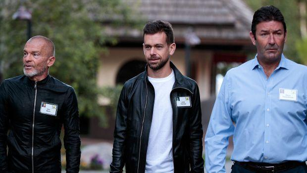 Aviv 'Vivi' Nivo, Jack Dorsey, and former McDonald's CEO Steve Easterbrook at Sun Valley