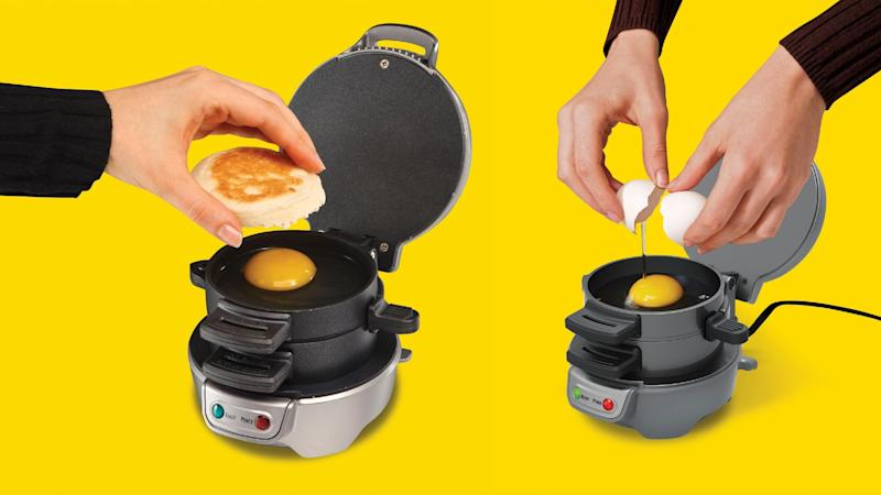 This breakfast sandwich maker has revolutionized my morning routine. (Photo: Amazon)