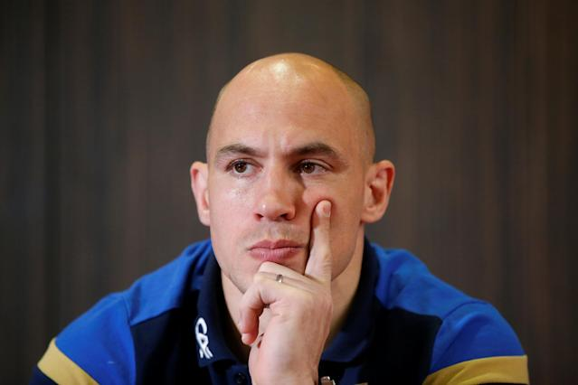 Rugby Union - Italy Press Conference - Orange Velodrome, Marseille, France - February 22, 2018 Italy's Sergio Parisse during the press conference REUTERS/Jean-Paul Pelissier