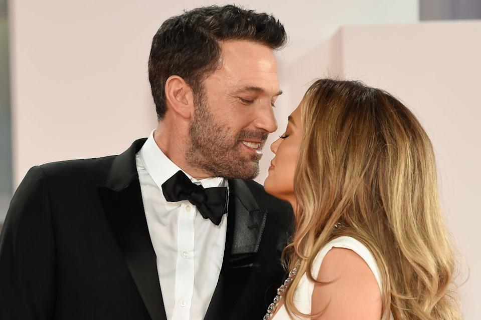 Ben Affleck has revealed he is 'in awe' of girlfriend Jennifer Lopez, pictured at the Venice Film Festival. (Getty Images)