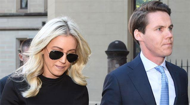 Roxy Jacenko with husband Oliver Curtis during his court hearing.