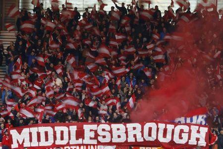 Britain Soccer Football - Middlesbrough v Sunderland - Premier League - The Riverside Stadium - 26/4/17 Middlesbrough fans Reuters / Phil Noble Livepic