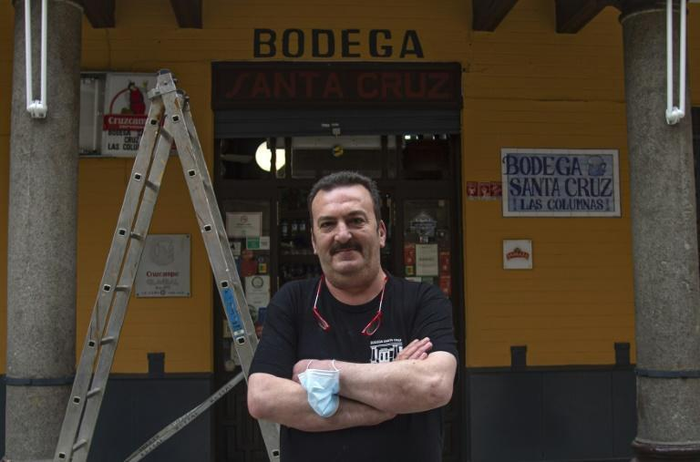 """Tapas restaurant chef Rafael Sanchez hopes tourists will come back to Seville and """"we can return to normality"""""""