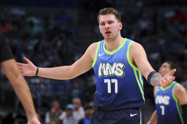 In a game with multiple confrontations with the officials, Mavs star Luka Doncic knows he needs to stay focused and keep his cool on the court. (AP/Richard W. Rodriguez)