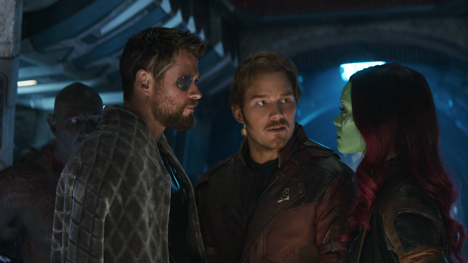 Thor meets the Guardians of the Galaxy in Avengers: Infinity War.