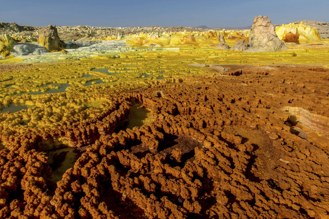 <p>The photos were taken by Neta Dekel, an Israeli photographer. He said the acid pools were one of the most extraordinary sights he had ever seen. (Photo: Neta Dekel/Caters News) </p>