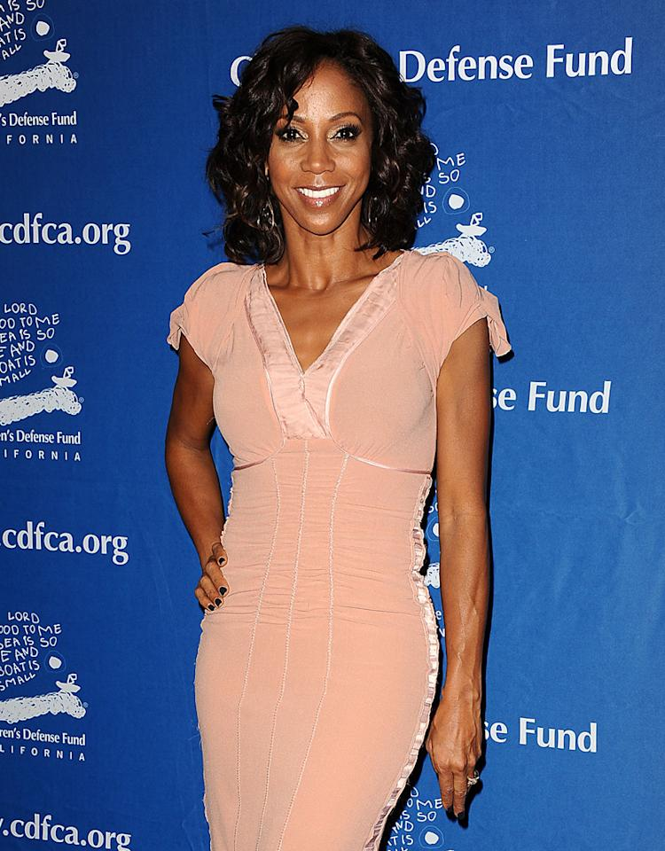 "BEVERLY HILLS, CA - DECEMBER 06:  Actress Holly Robinson Peete attends the Children's Defense Fund's 22nd annual ""Beat the Odds"" Awards at the Beverly Hills Hotel on December 6, 2012 in Beverly Hills, California.  (Photo by Jason LaVeris/FilmMagic)"