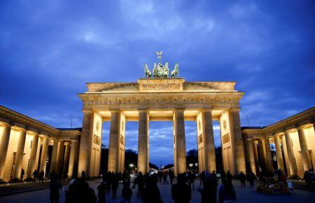 FILE PHOTO: The Brandenburg Gate is seen during sunset in Berlin