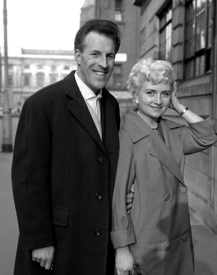<p>Sir Bruce Forsyth with his former wife Penny in 1960 Vas he arrives at the private wing of University College Hospital in London </p>