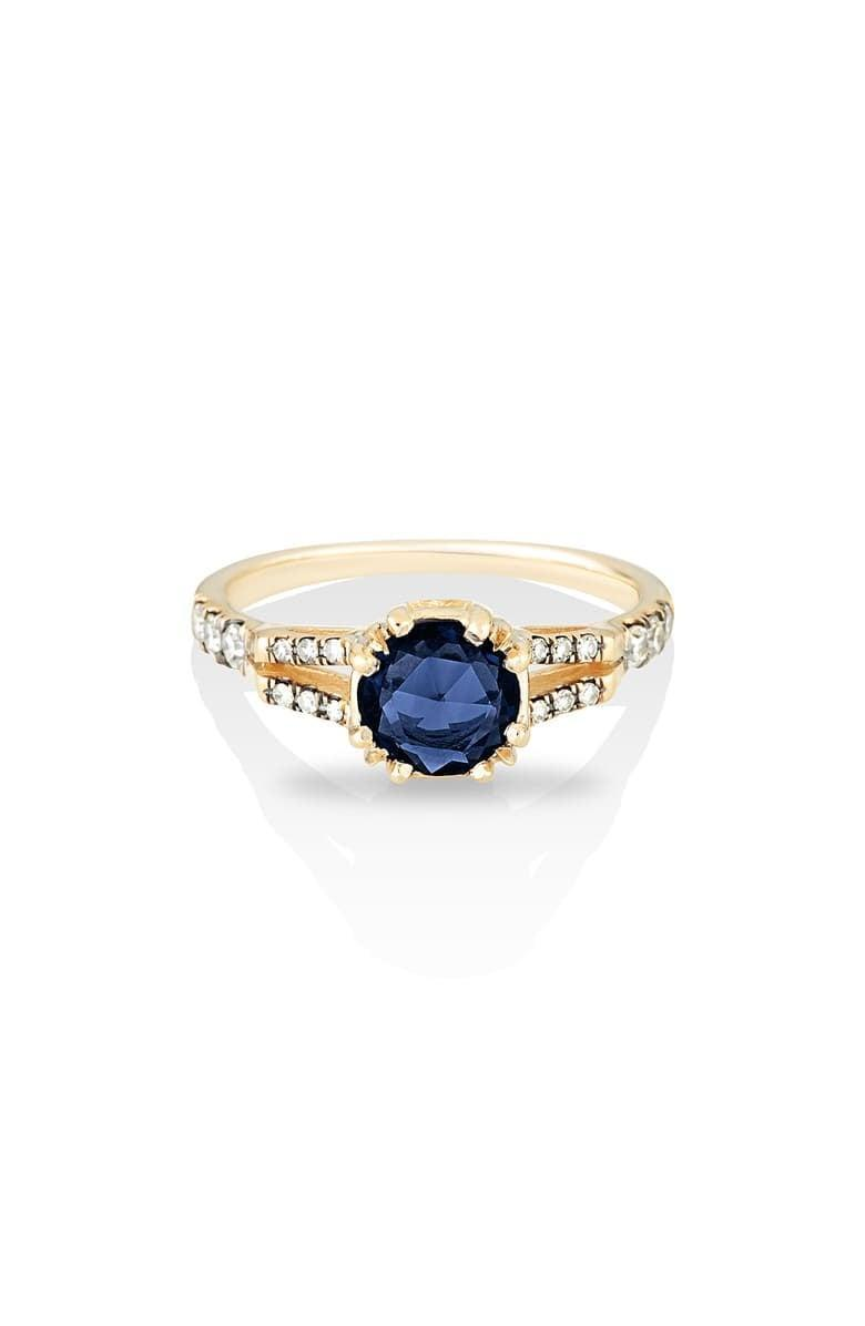 """<p>The <a href=""""https://www.popsugar.com/buy/Maniamania-Beloved-Sapphire-Solitaire-Ring-533202?p_name=Maniamania%20Beloved%20Sapphire%20Solitaire%20Ring&retailer=shop.nordstrom.com&pid=533202&price=3%2C800&evar1=fab%3Aus&evar9=47015200&evar98=https%3A%2F%2Fwww.popsugar.com%2Ffashion%2Fphoto-gallery%2F47015200%2Fimage%2F47025515%2FColored-Stones-Maniamania-Beloved-Sapphire-Solitaire-Ring&list1=shopping%2Cjewelry%2Crings%2Cengagement%20rings&prop13=mobile&pdata=1"""" rel=""""nofollow noopener"""" class=""""link rapid-noclick-resp"""" target=""""_blank"""" data-ylk=""""slk:Maniamania Beloved Sapphire Solitaire Ring"""">Maniamania Beloved Sapphire Solitaire Ring</a> ($3,800) is surrounded by pavé diamonds that effortlessly contrast with the gold band.</p>"""