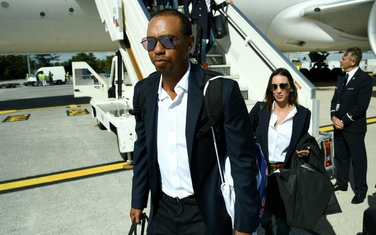Tiger Woods touched down in France just hours after winning his first tournament for five years