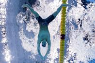 <p>Kalisz, of the United States, swims in the men's 200m individual medley semifinal.</p>