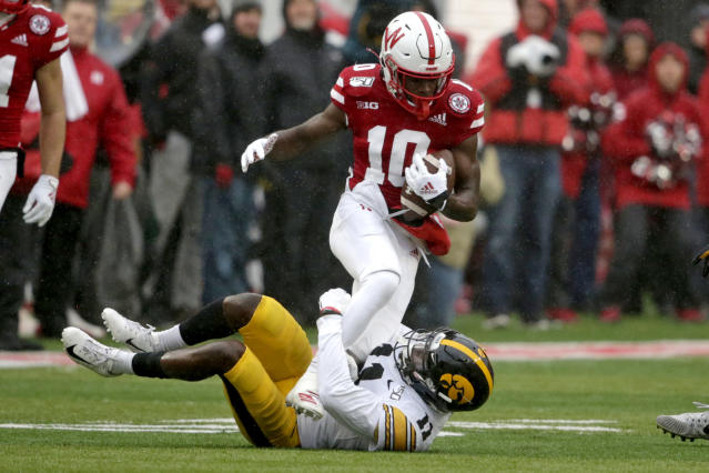 Nebraska wide receiver JD Spielman has 170 catches for 2,546 yards and 15 touchdowns in three seasons in Lincoln. (AP Photo/Nati Harnik)