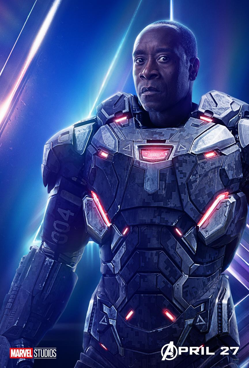<p>Don Cheadle's armored hero returns to action after a devastating crash in <i>Captain America: Civil War</i>. (Photo: Marvel Studios) </p>