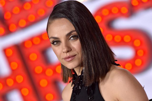 Mila Kunis at the Los Angeles premiere of <em> A Bad Moms Christmas</em>. (Photo: Axelle/Bauer-Griffin/FilmMagic)