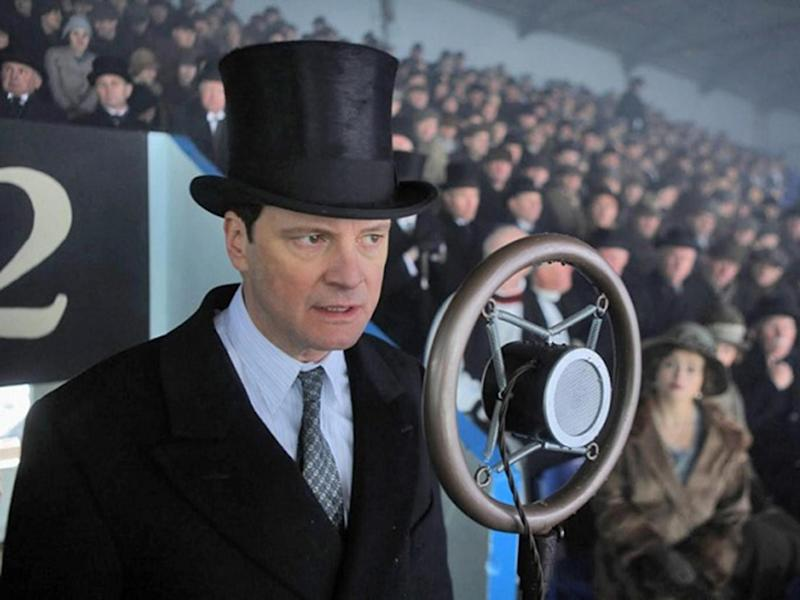 Colin Firth as the stuttering King George VI in 'The King's Speech'