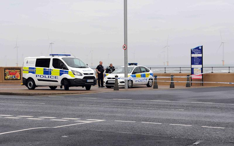 Police attend after a woman and toddler were abducted on a Redcar seafront - Evening Gazette