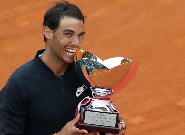 Rafael Nadal claimed his 10th Monte Carlo Masters title last year with victory over Albert Ramos Vinolas in the final (AFP Photo/VALERY HACHE)