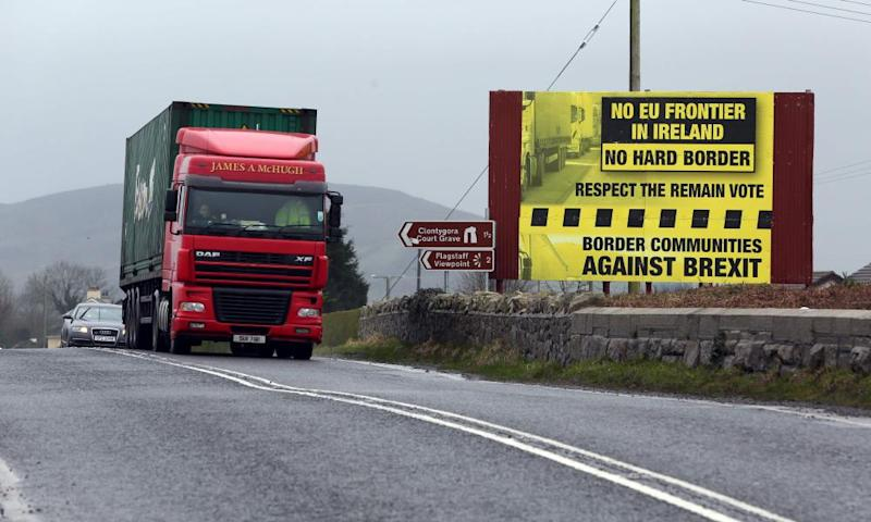 A road on the open border between Ireland and Northern Ireland.